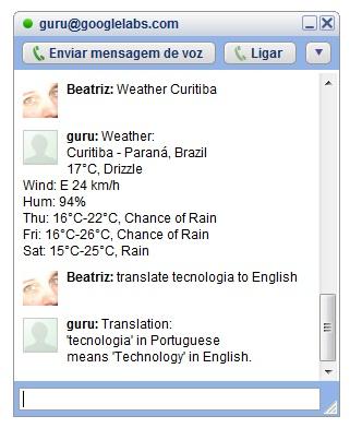 Serviço experimental permite fazer perguntas directamente pelo chat do Google Talk