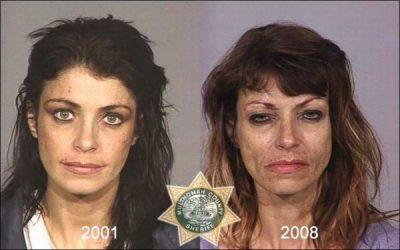 O antes e o depois das drogas