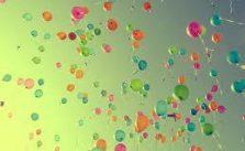 Balões para imprimir e colorir