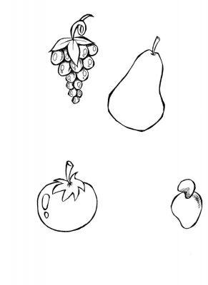 Imagens de fruta para colorir
