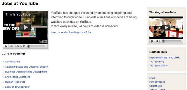 Youtube contrata no Brasil
