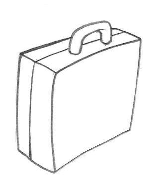 Imagens de malas e mochilas para imprimir e colorir
