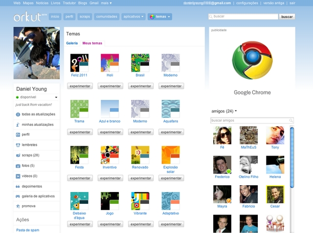 Google vai mudar o visual do Orkut