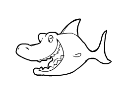 Tubarões para colorir