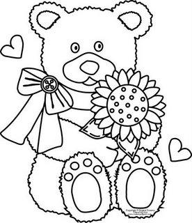 Ursinhos para pintar