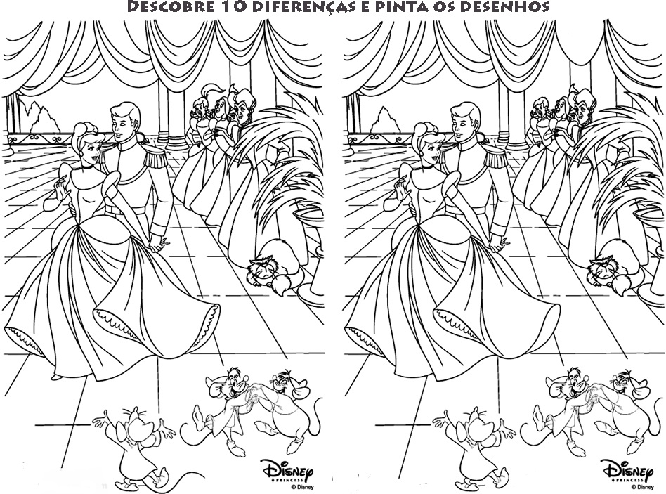 Jogo das diferenças - Cinderella