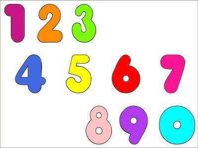 Colorir números de 1 a 10