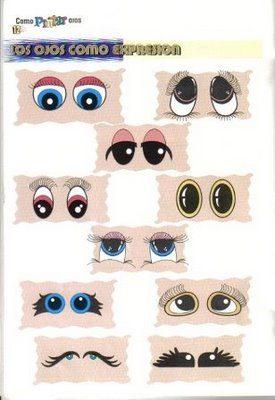 Revista que ensina a desenhar e pintar os olhos