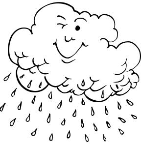 Imagens de chuva para colorir