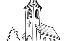 Imagens de igrejas para imprimir e colorir