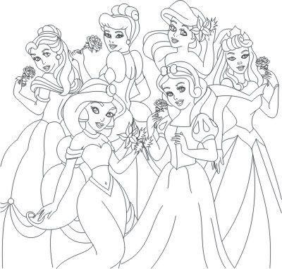 Princesas Da Disney Para Imprimir Recortar E Pintar Educacao Online