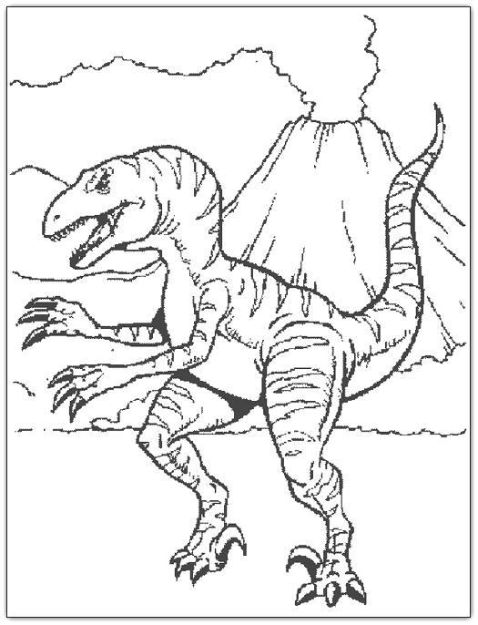 Imagens de dinossauros para imprimir e colorir