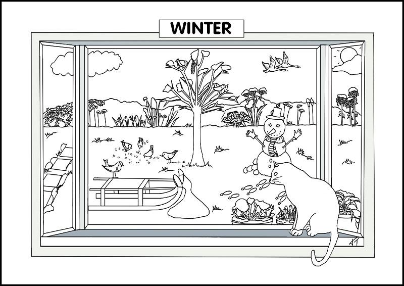 aprender ingl s a pintar as esta es do ano fichas e atividades. Black Bedroom Furniture Sets. Home Design Ideas