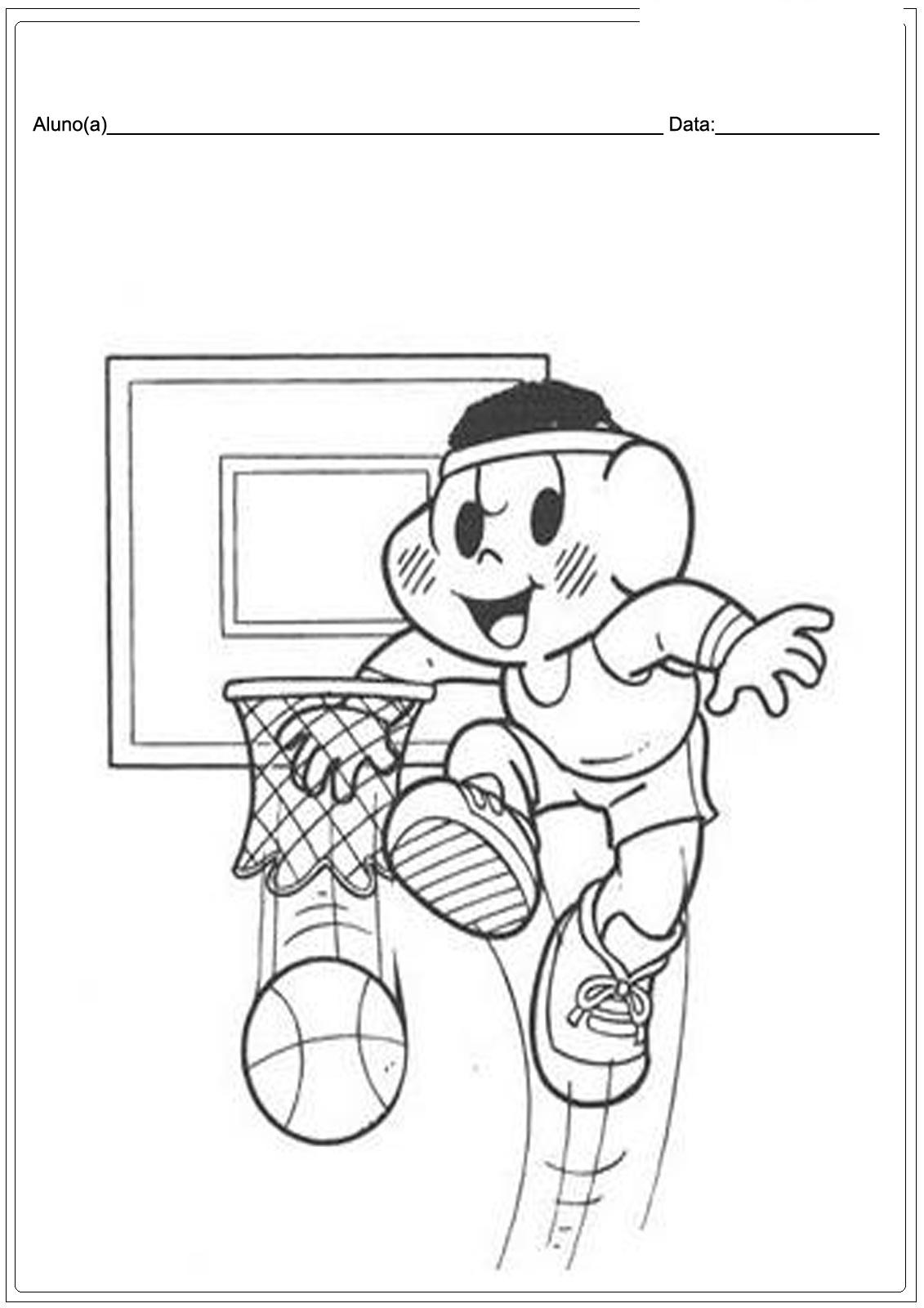 Desenhos de desporto para imprimir e colorir