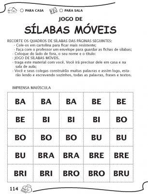 Fichas de Sílabas Móveis