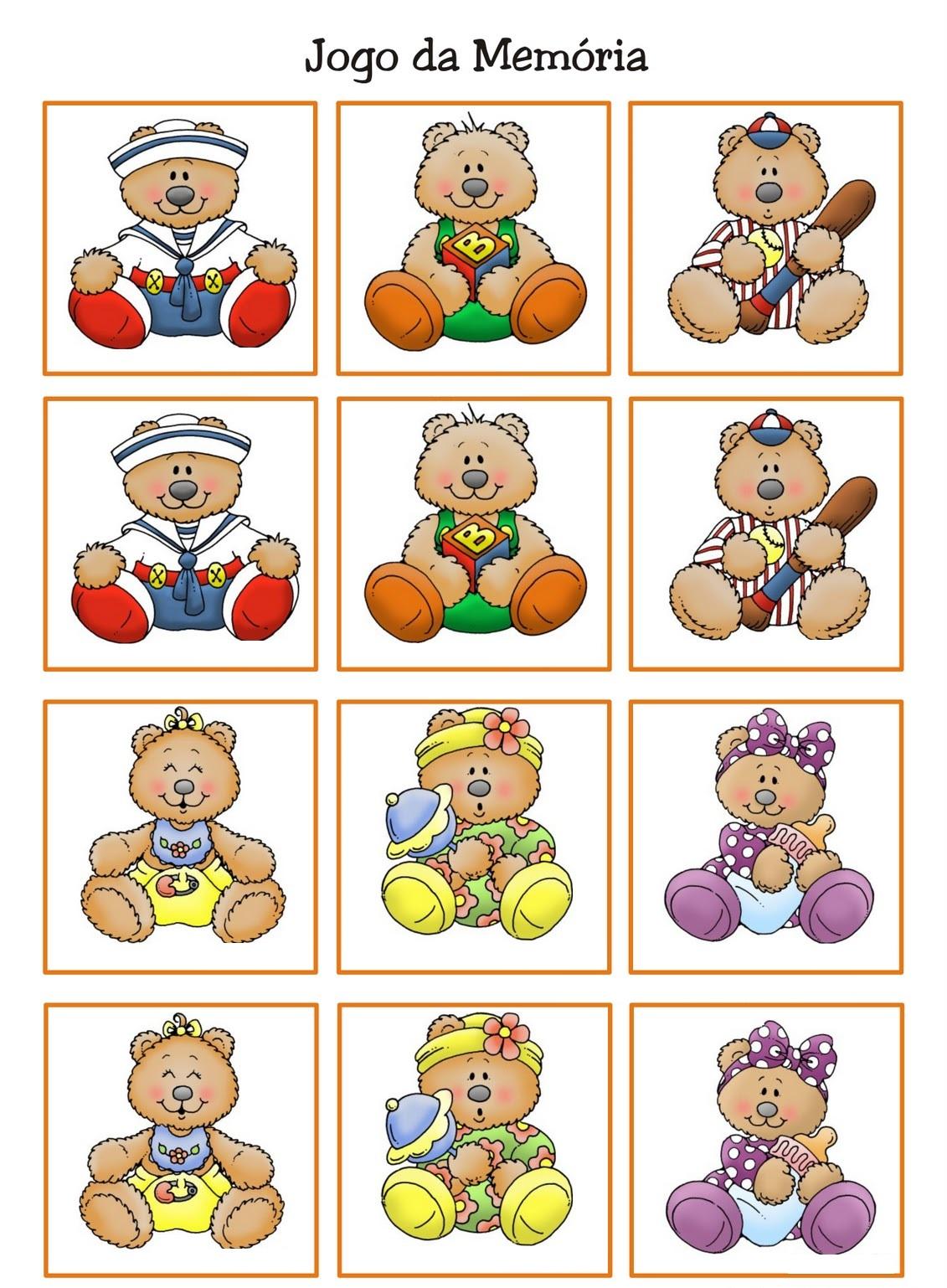 Jogo de memória para as crianças