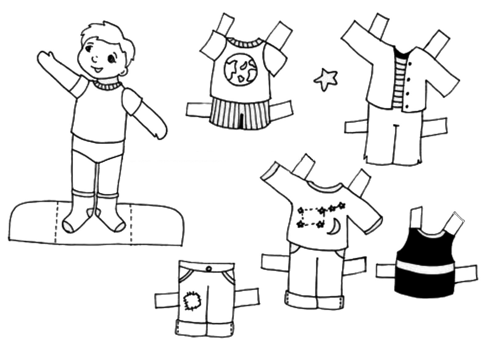Bonecos De Papel Para Imprimir E Vestir Educacao Online