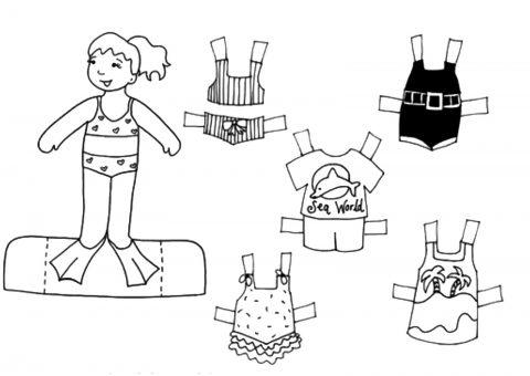 Bonecos de papel para imprimir e vestir