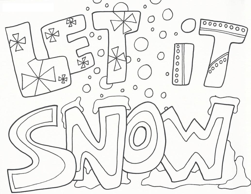 Imagens da neve para imprimir e colorir fichas e atividades for Snowy coloring pages