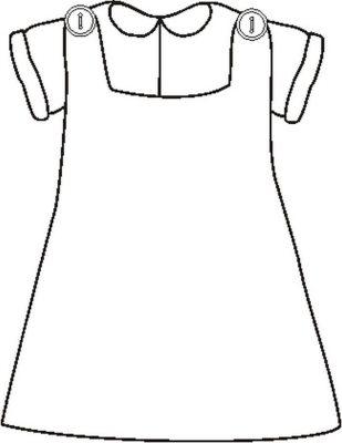 Imagens de vestidos para imprimir e colorir - 12