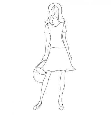 Imagens de vestidos para imprimir e colorir - 15