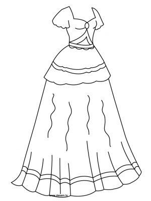 Imagens de vestidos para imprimir e colorir - 16