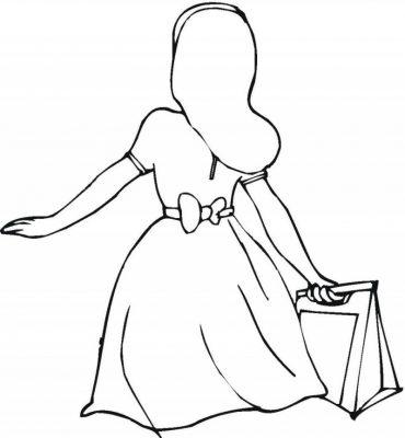 Imagens de vestidos para imprimir e colorir - 17