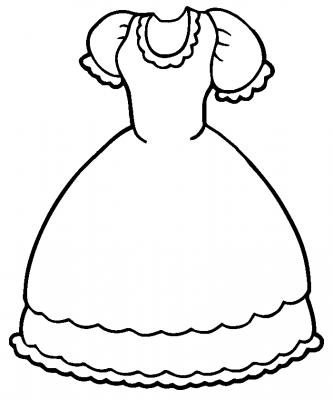 Imagens de vestidos para imprimir e colorir - 18