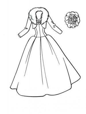 Imagens de vestidos para imprimir e colorir - 3