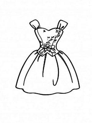 Imagens de vestidos para imprimir e colorir - 5