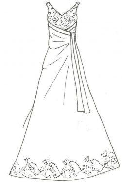 Imagens de vestidos para imprimir e colorir - 7