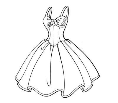 Imagens de vestidos para imprimir e colorir - 8