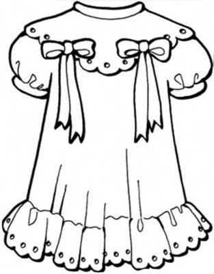 Imagens de vestidos para imprimir e colorir - 9