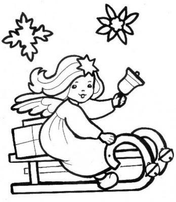 Desenhos de anjos para imprimir e colorir