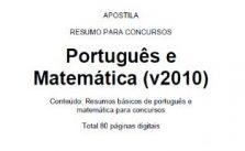 Apostilha de português e matemática