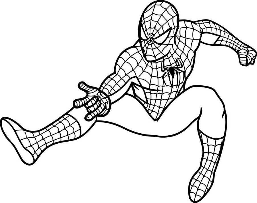 Desenhos Do Homem Aranha Para Imprimir E Colorir 1