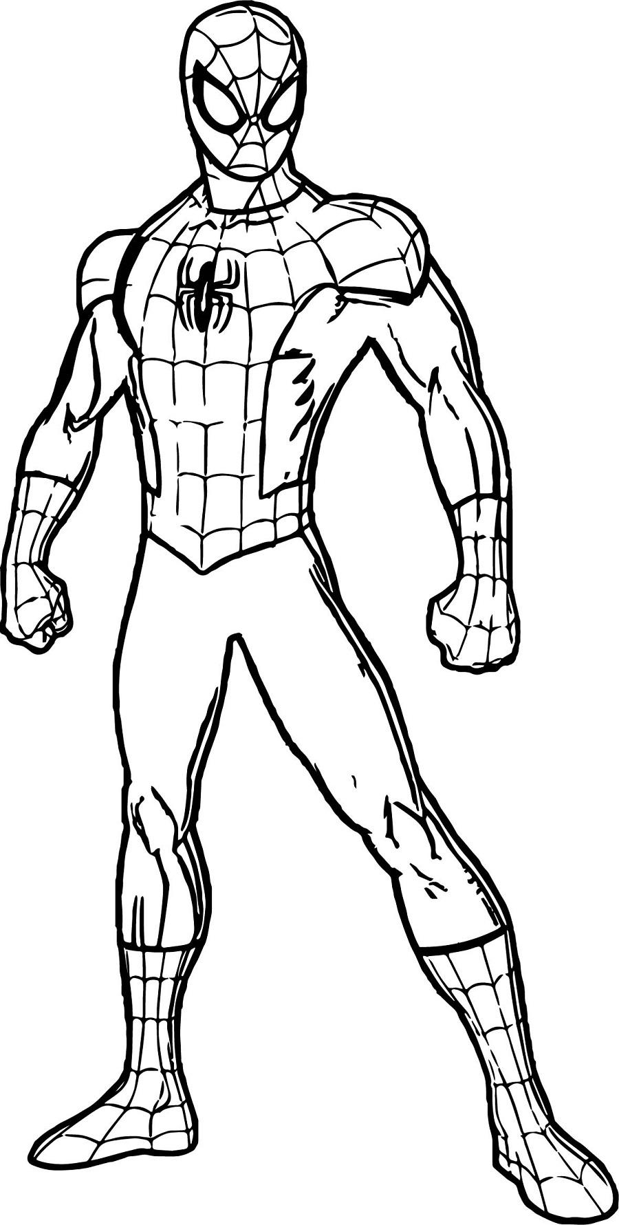 Desenhos do homem aranha para imprimir e colorir fichas for Iron spiderman coloring pages
