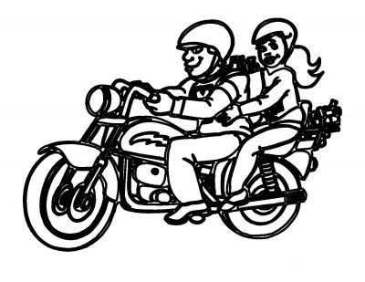 Imagens de motas para imprimir e colorir