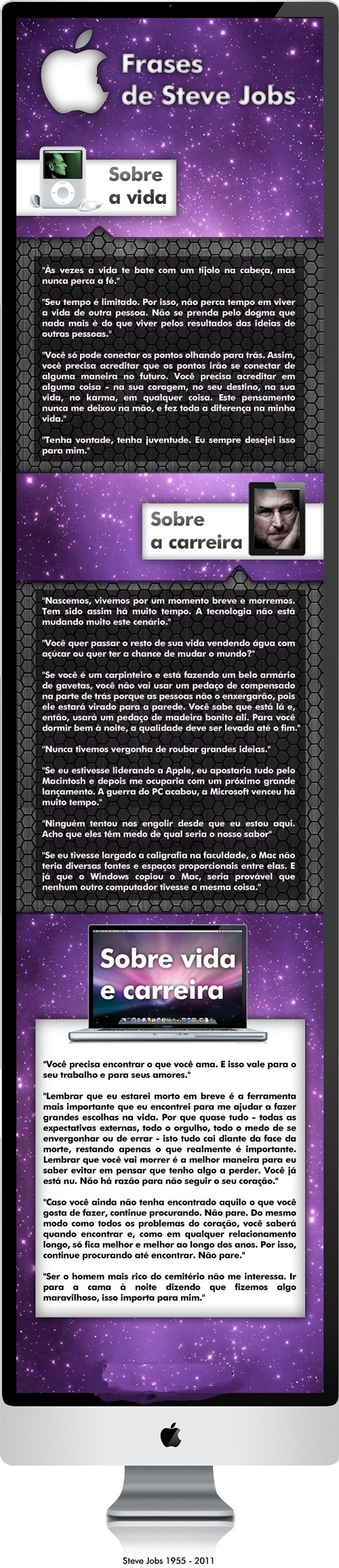 Frases memoráveis de Steve Jobs