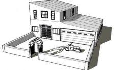 Imagens de casas para imprimir e colorir