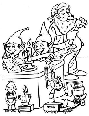 Imagens de Natal para imprimir e pintar