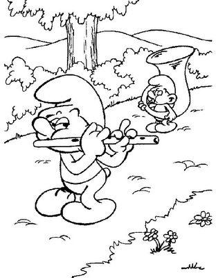 Desenhos Dos Smurfs Para Colorir 4 Fichas E Atividades