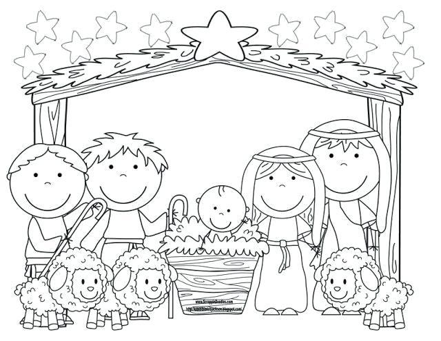 Imagens do nascimento de Jesus para colorir