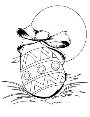 Imagens de ovos da Páscoa para imprimir e colorir
