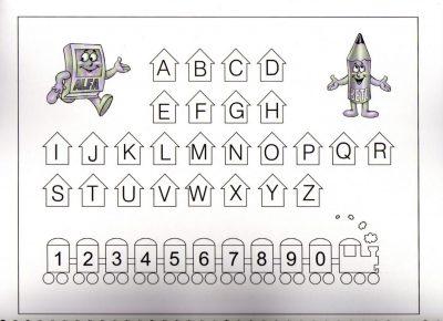 Actividades com letras e formas para aprender a ler