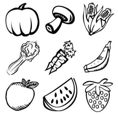 Imagens de legumes e verduras para imprimir e colorir