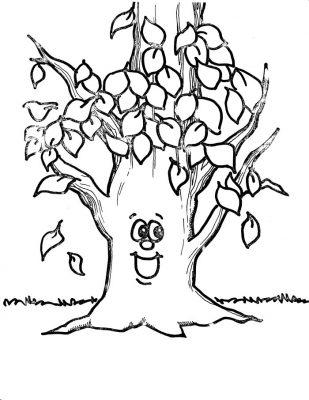 Imagens de árvores para imprimir e colorir