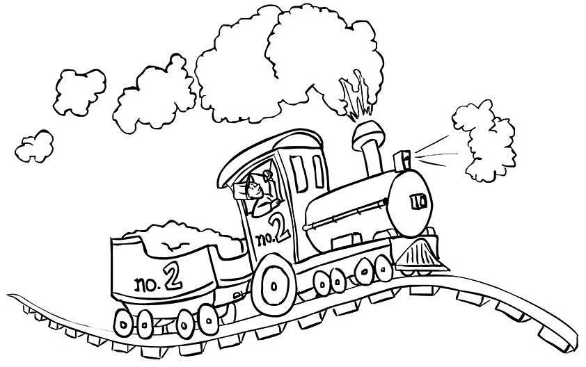 Imagens de comboios para imprimir e colorir