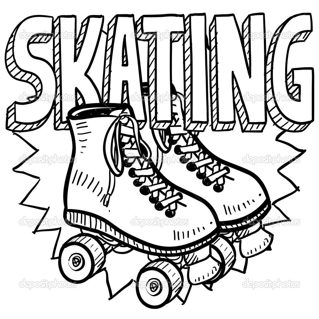 Imagens de patins para... Roller Derby Skate Drawing