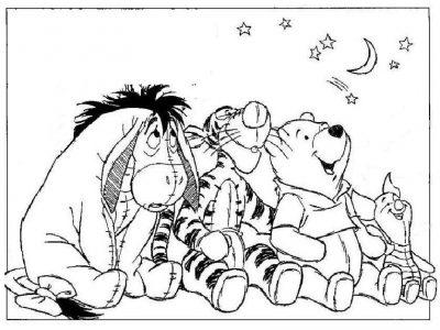 Imagens do Winnie the Pooh para imprimir e colorir